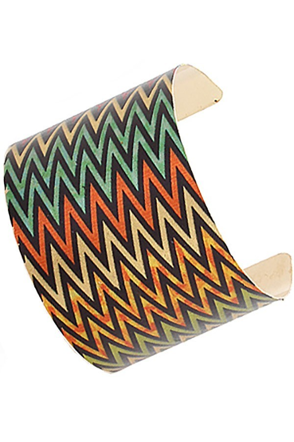 Tribal Print Cuff Bangle