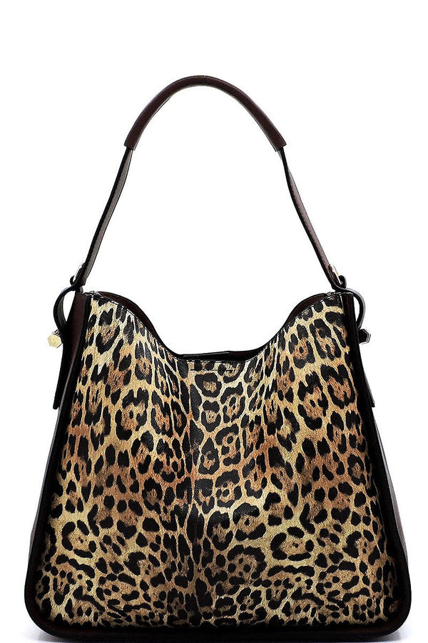 Leopard 2-in-1 Shoulder Bag Hobo