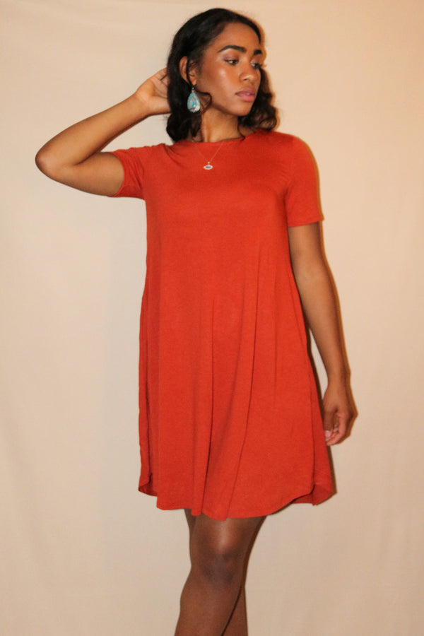 Nora Copper Mini A-Line Dress