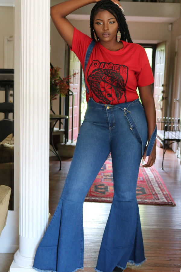 Red Afro Queen Graphic Tee