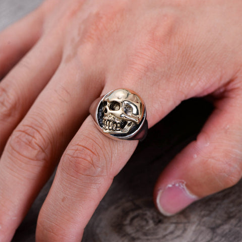 Men's Skull Ring Solid 925 Sterling Silver