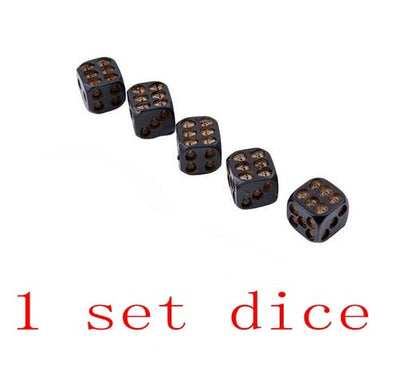 5pcs/set Black Skull Dice