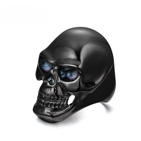 Stainless steel Black Skull Ring