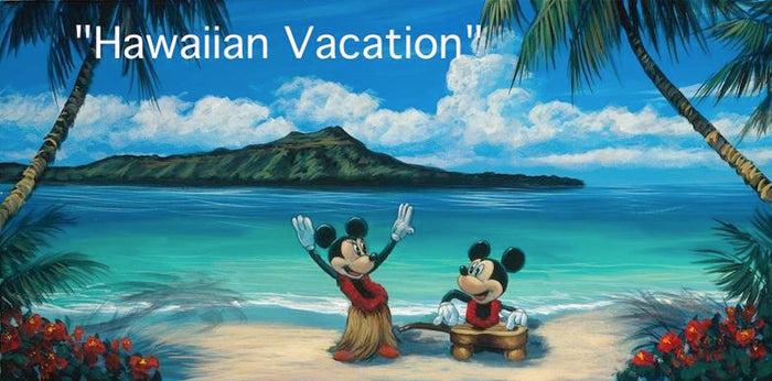 Hawaiian Vacation disney art by Walfrido