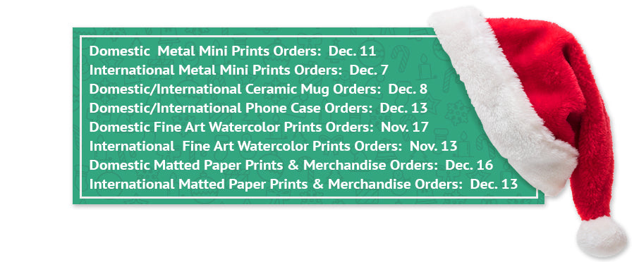 Walfrido holiday Shipping Cut-Off Dates for tropical prints and accessories