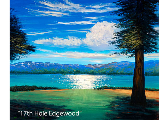 17th Hole Edgewood - Mountain Landscape Oil Painting | Walfrido