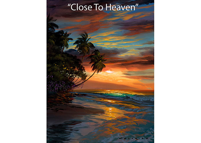 Close To Heaven - Tropical Seascape Oil Painting | Walfrido