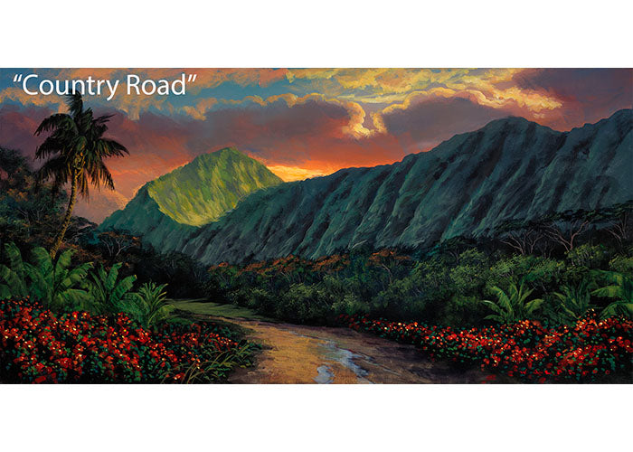 Country Road - Tropical Landscape Oil Painting | Walfrido