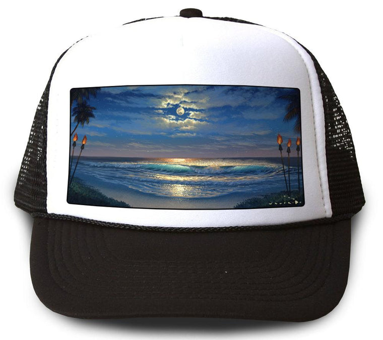 Endless Romance Black Mesh Trucker Hat by Walfrido