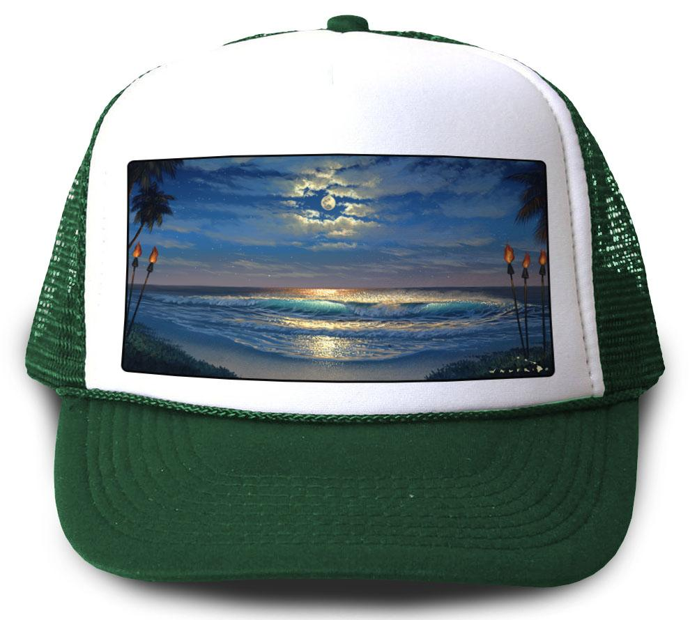 Endless Romance Green Mesh Trucker Hat by Walfrido