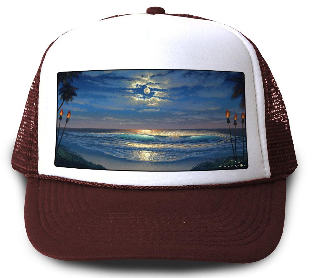 Endless Romance Maroon Mesh Trucker Hat by Walfrido