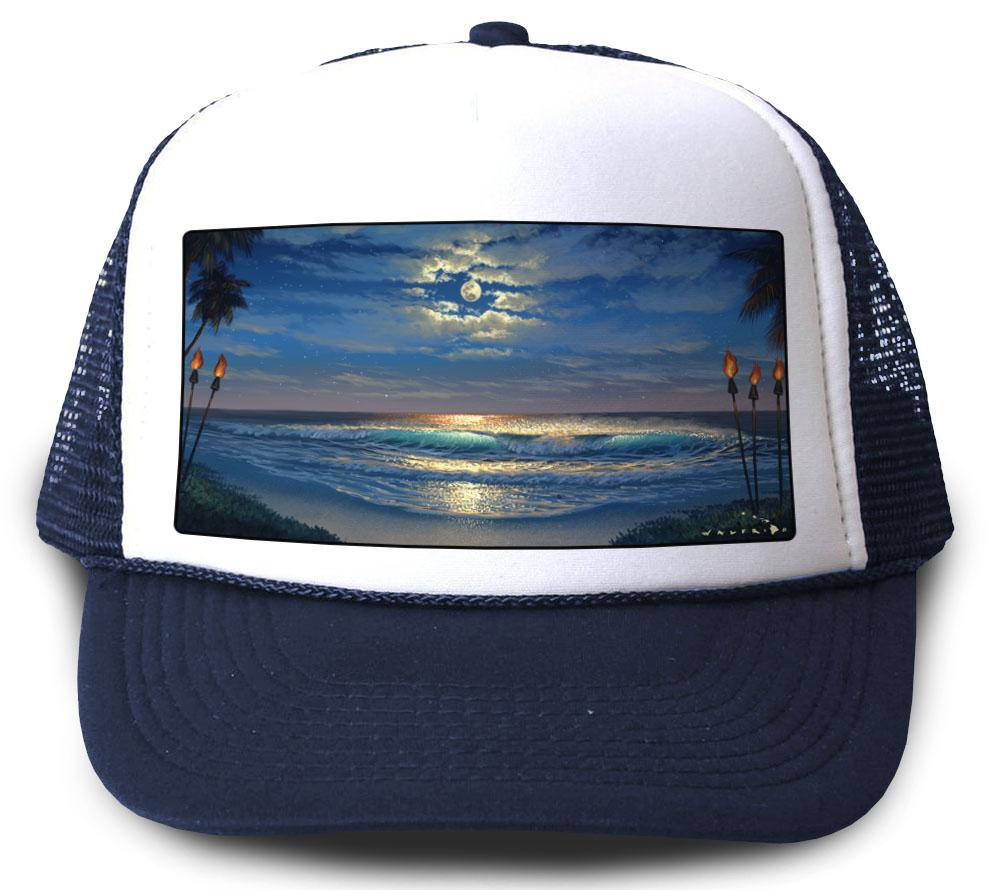 Endless Romance Navy Mesh Trucker Hat by Walfrido