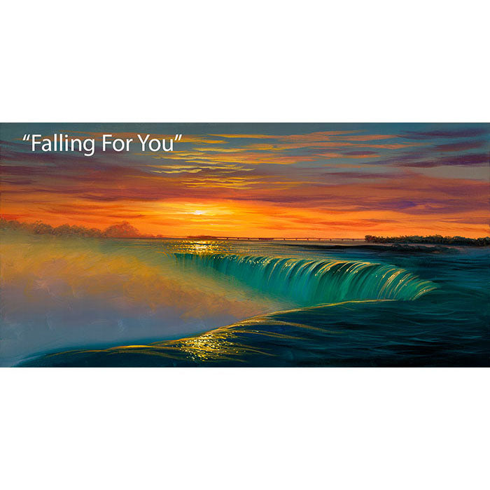 Falling For You - Epic Waterfall Oil Painting | Walfrido