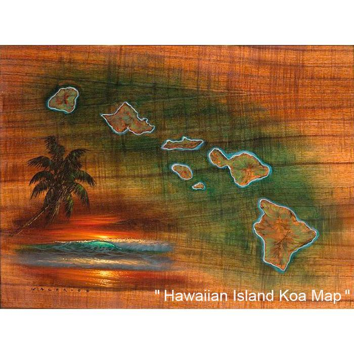 Hawaiian Islands Koa Map
