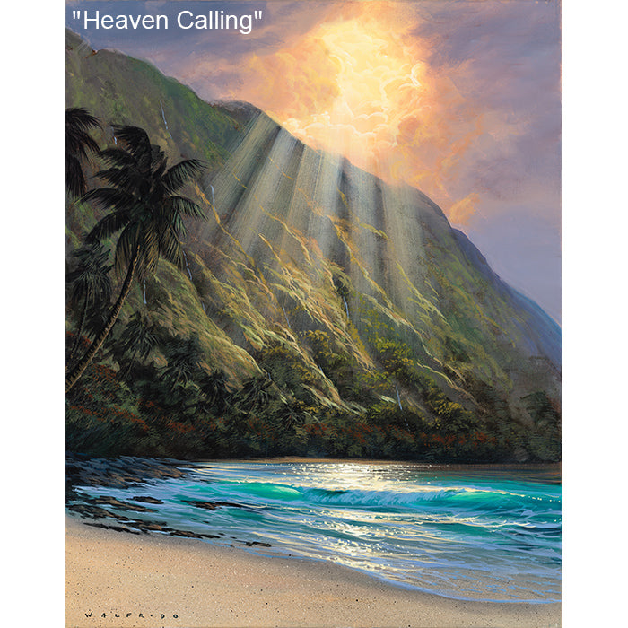 Heaven Calling - Original Oil Painting by Walfrido