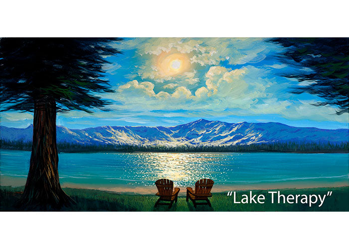 Lake Therapy - Lake Tahoe Landscape Oil Painting | Walfrido