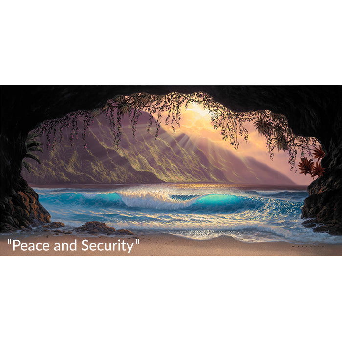 Peace and Security fine art tropical painting by Walfrido