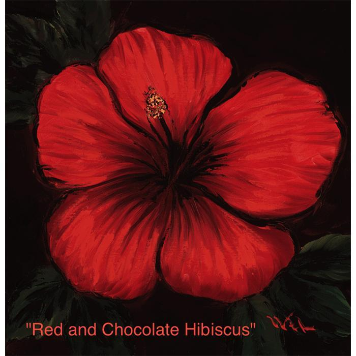 Red and Chocolate Hibiscus