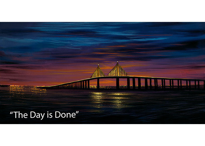 The Day is Done - Nightscape Oil Painting | Walfrido