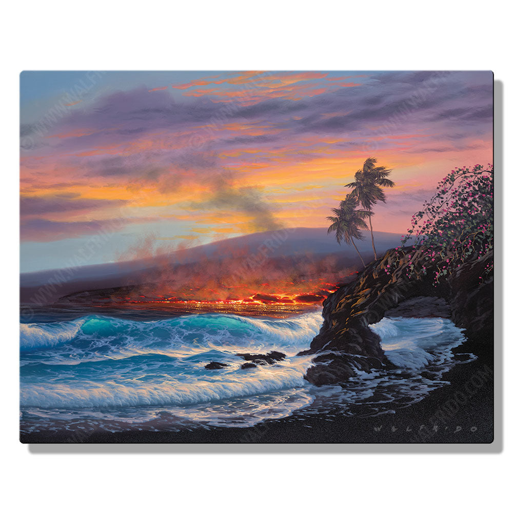 As the Dusk Settles, Open Edition Metal Print by Tropical Hawaii Artist Walfrido