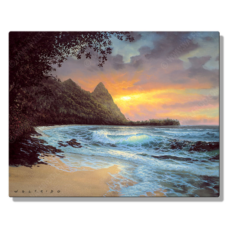 Bali Hi, Open Edition Metal Print by Tropical Hawaii Artist Walfrido