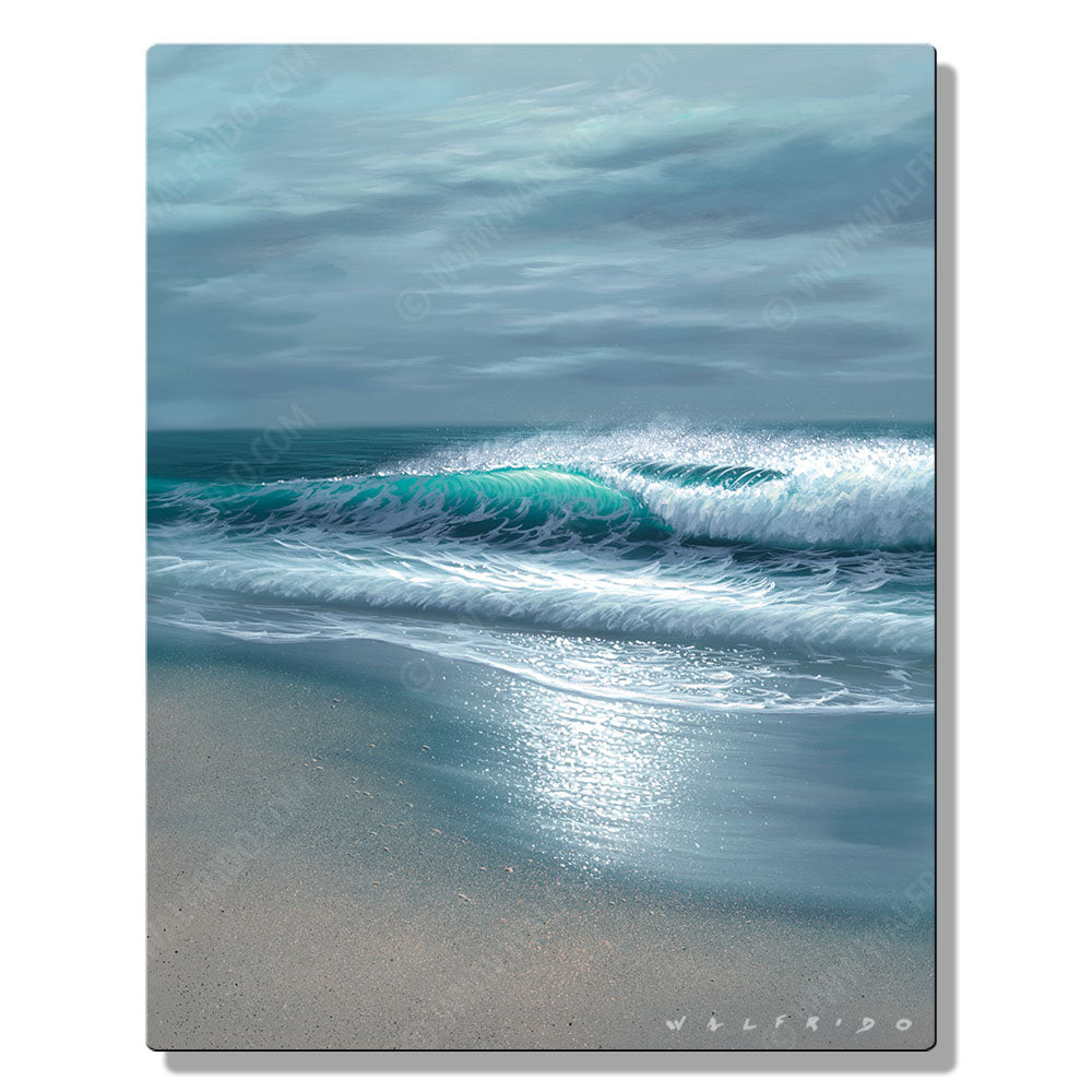 Coastal Greys, Open Edition Metal Print by Tropical Hawaii Artist Walfrido