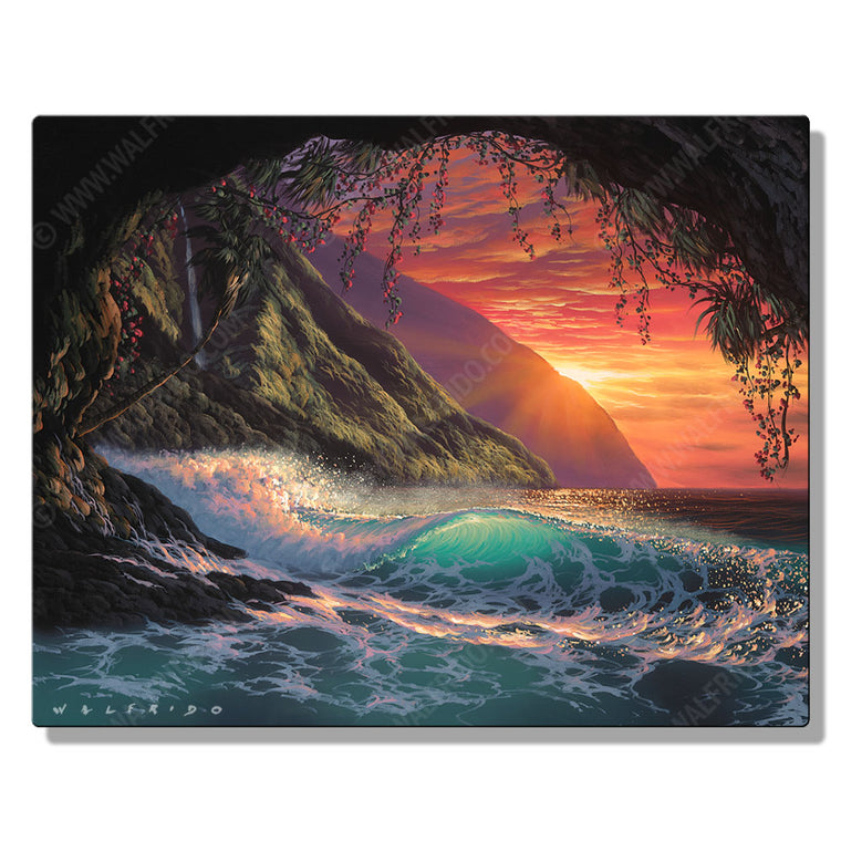 Colors of the Heart, Open Edition Metal Print by Tropical Hawaii Artist Walfrido