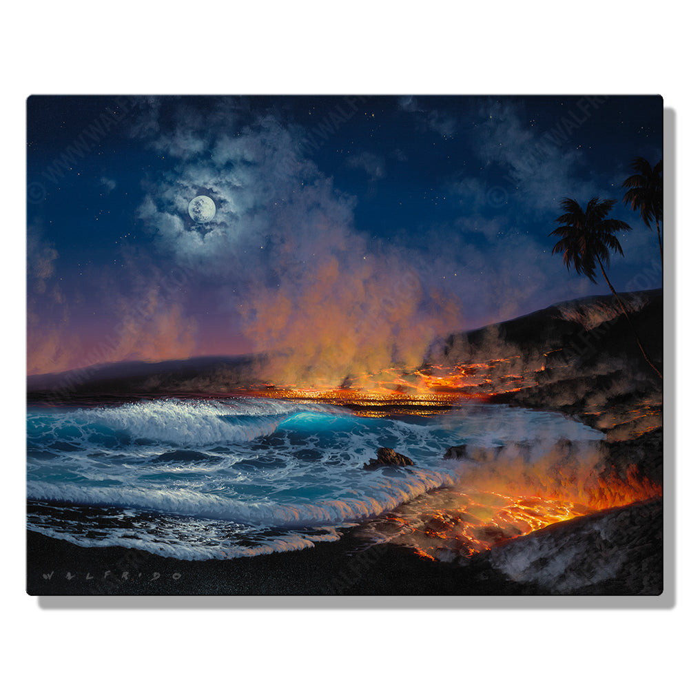 Creating Life, Open Edition Metal Print by Tropical Hawaii Artist Walfrido