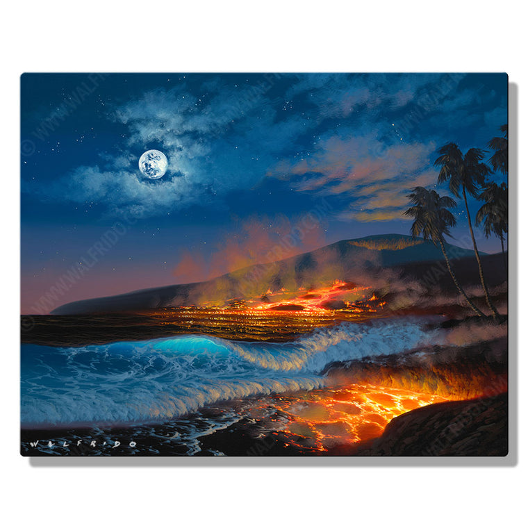 Divine Creation, Open Edition Metal Print by Tropical Hawaii Artist Walfrido