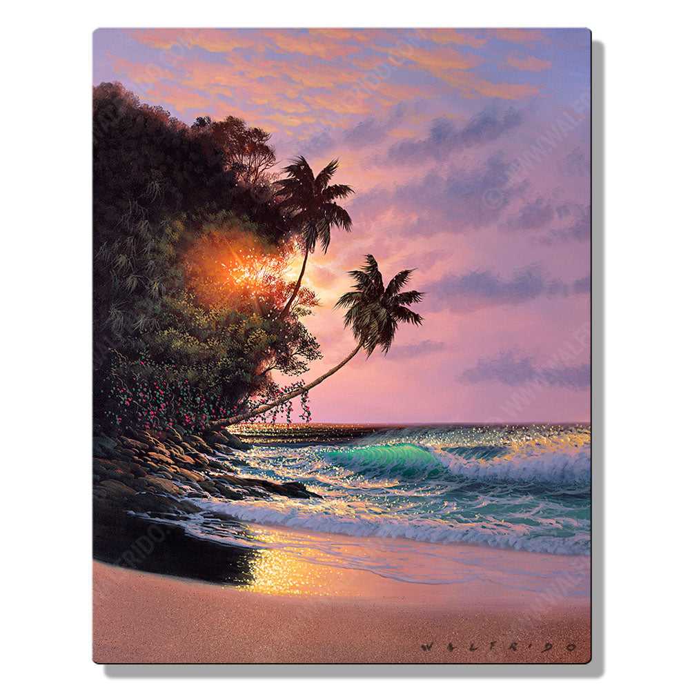 Fellowship of Light, Open Edition Metal Print by Tropical Hawaii Artist Walfrido