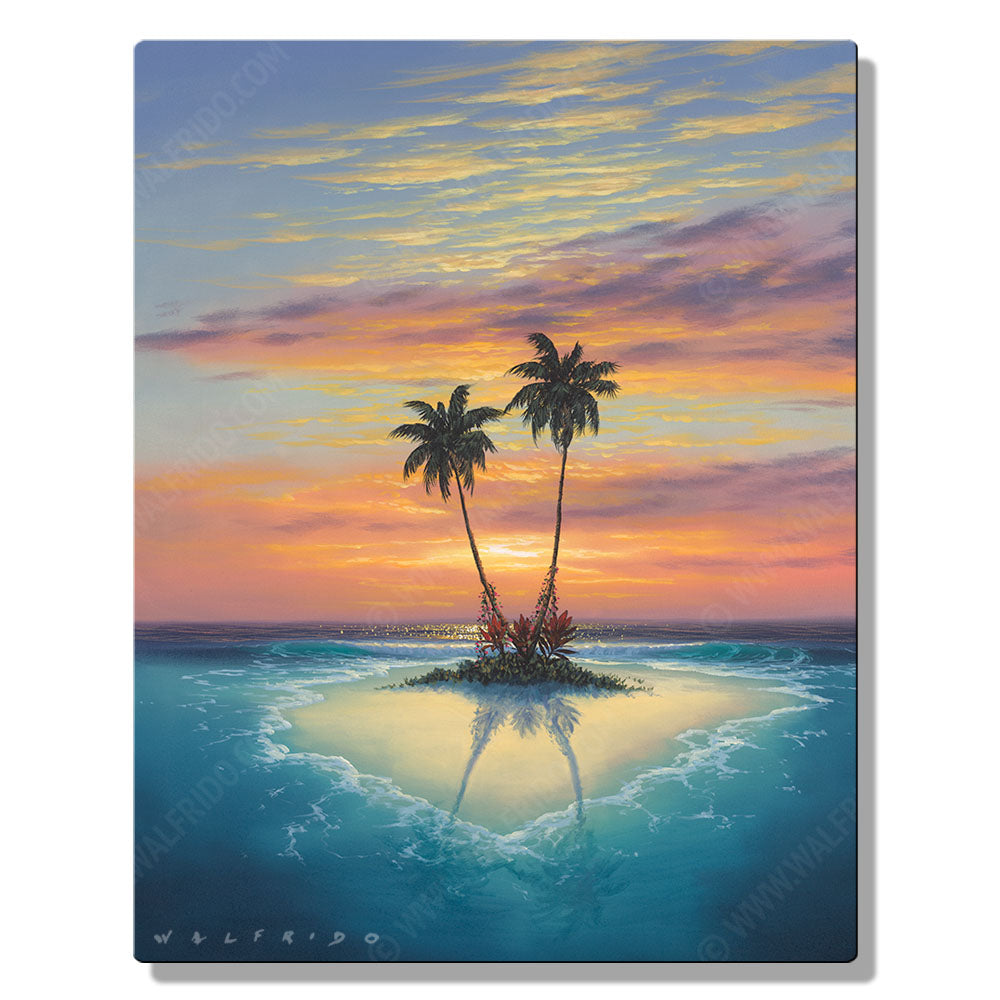 Island Love, Open Edition Metal Print by Tropical Hawaii Artist Walfrido