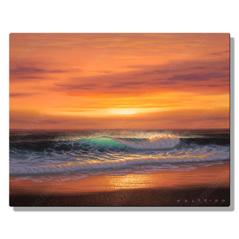 Light of Gold, Open Edition Metal Print by Tropical Hawaii Artist Walfrido