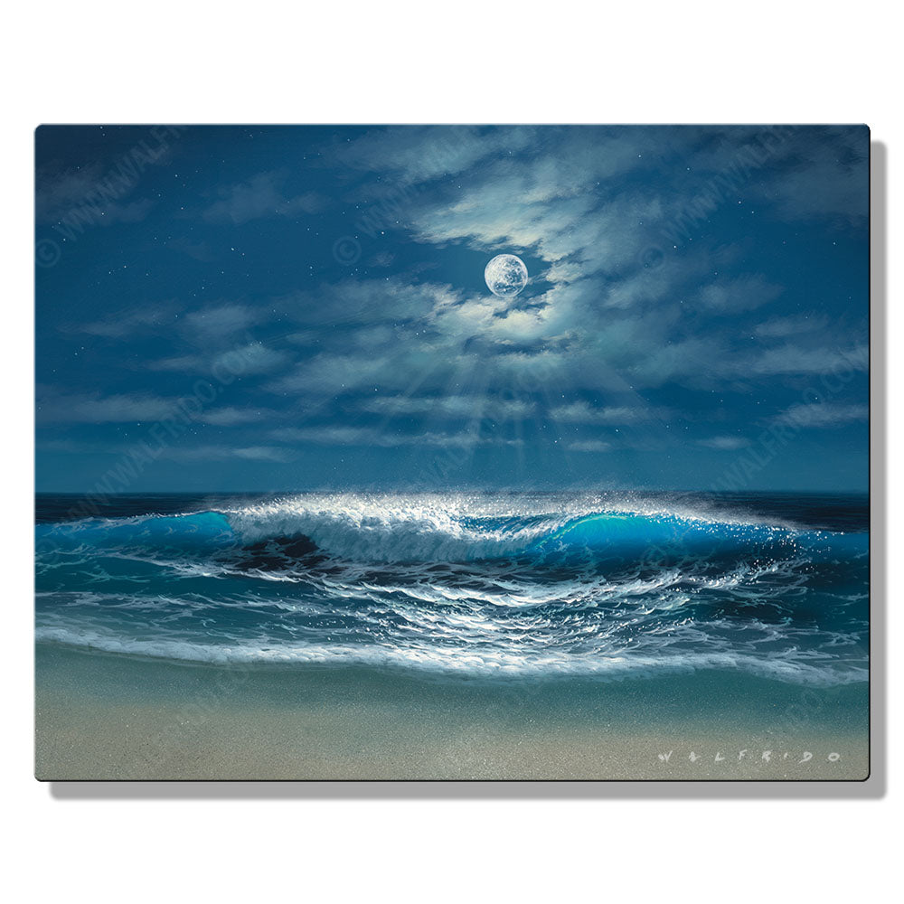 Light of Romance, Open Edition Metal Print by Tropical Hawaii Artist Walfrido