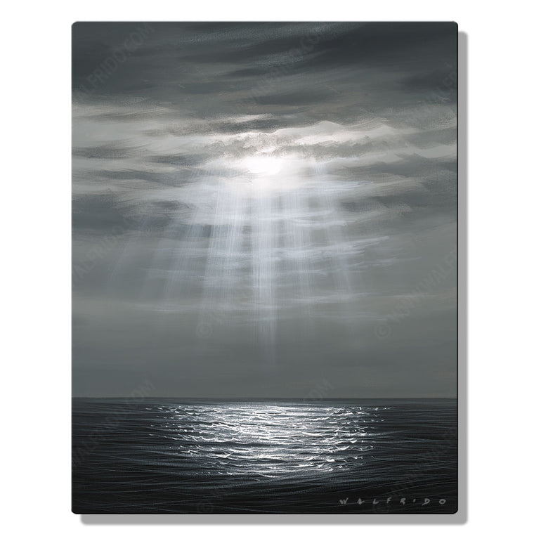 Lullaby, Open Edition Metal Print by Tropical Hawaii Artist Walfrido