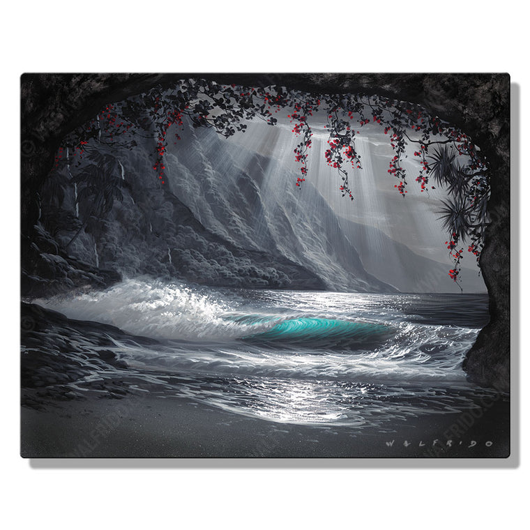 Memories of Home, Open Edition Metal Print by Tropical Hawaii Artist Walfrido