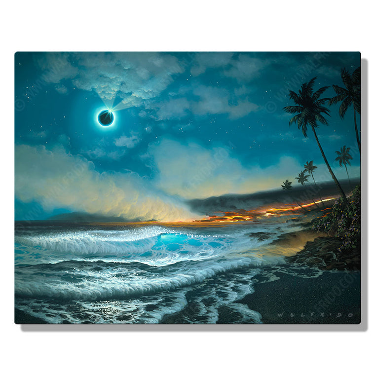 Mysteries of the Night, Open Edition Metal Print by Tropical Hawaii Artist Walfrido