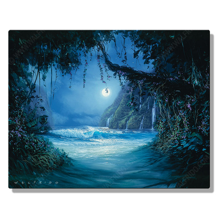 Path of Discovery, Open Edition Metal Print by Tropical Hawaii Artist Walfrido