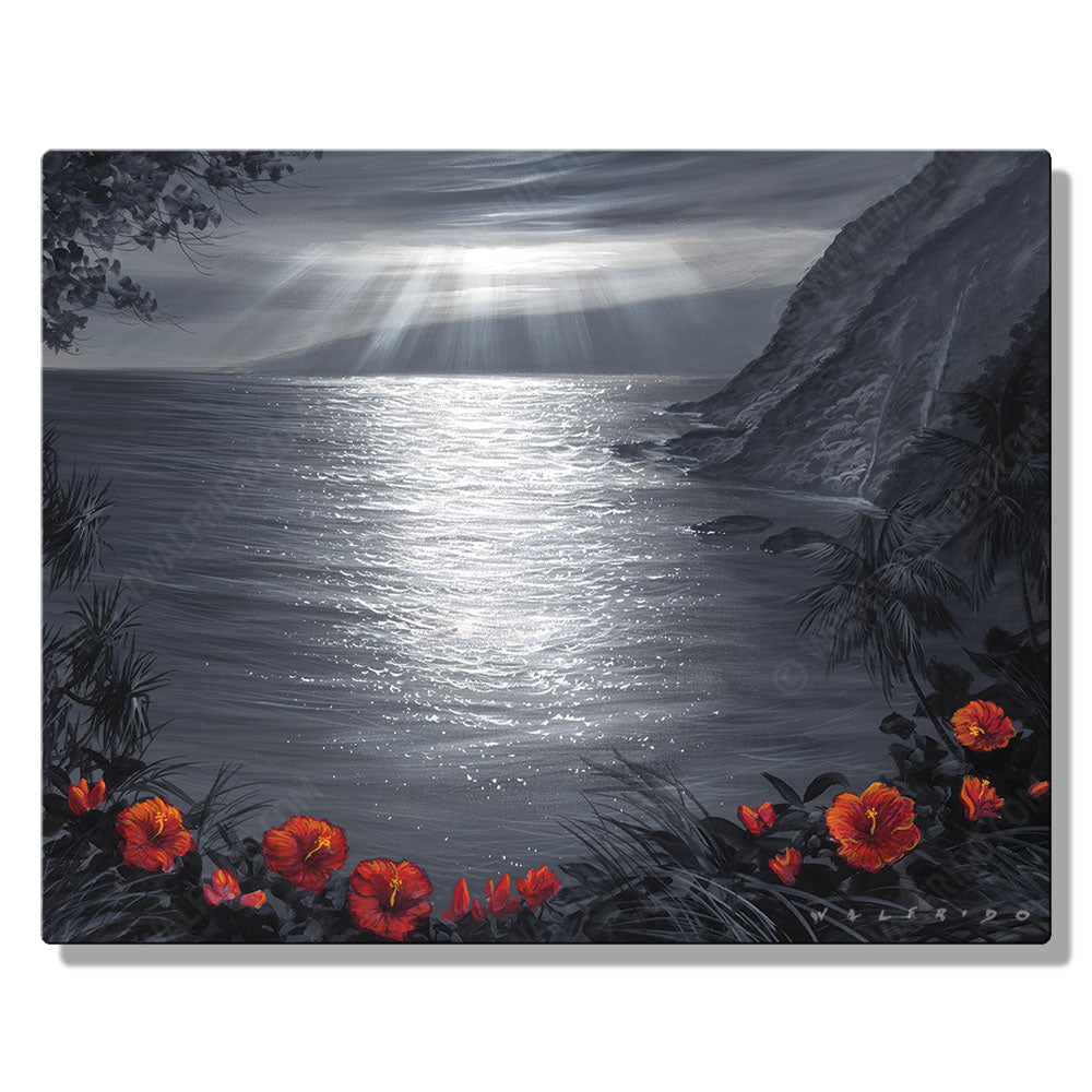 Recalling the View, Open Edition Metal Print by Tropical Hawaii Artist Walfrido