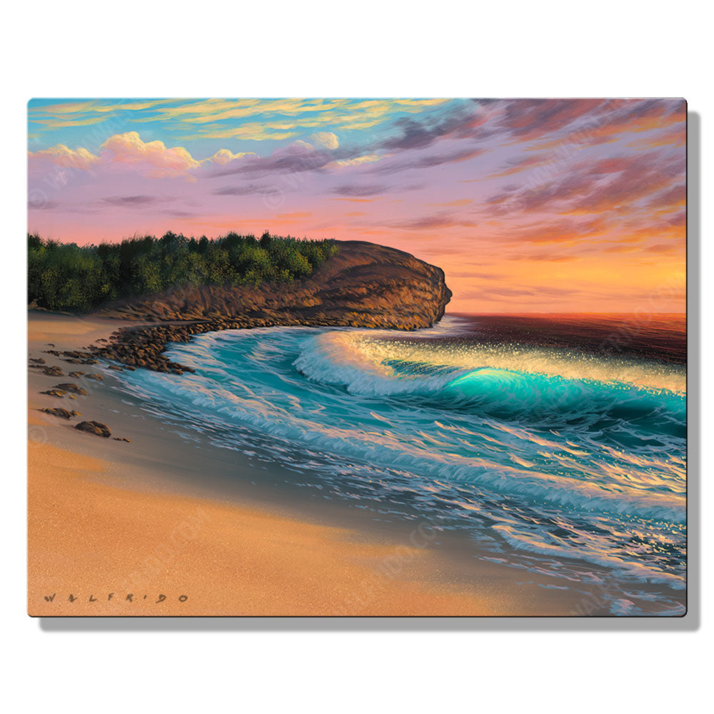 Shipwreck Beach, Open Edition Metal Print by Tropical Hawaii Artist Walfrido