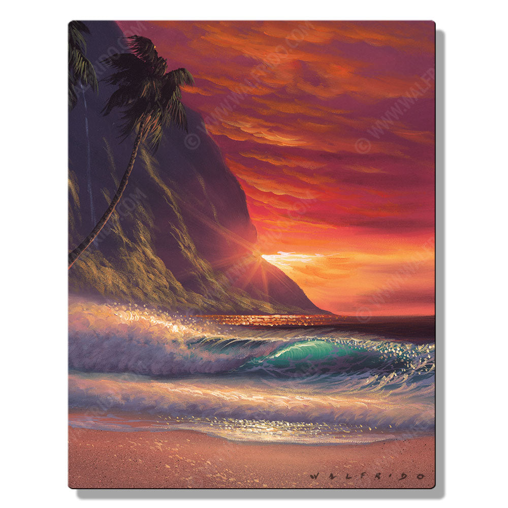 State of Love, Open Edition Metal Print by Tropical Hawaii Artist Walfrido