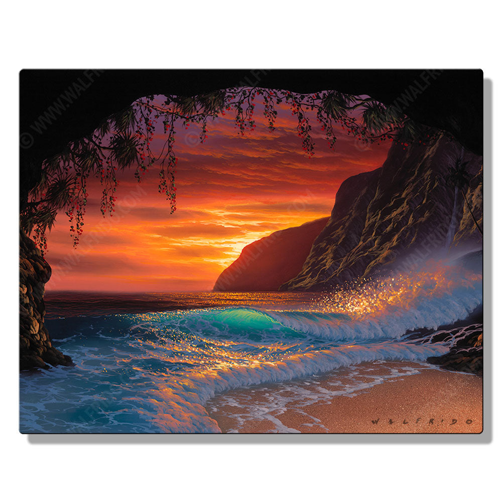 The Color of Memories, Open Edition Metal Print by Tropical Hawaii Artist Walfrido
