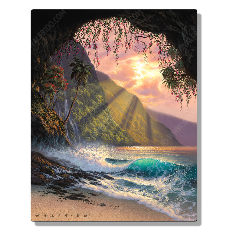 Touched by Heaven, Open Edition Metal Print by Tropical Hawaii Artist Walfrido