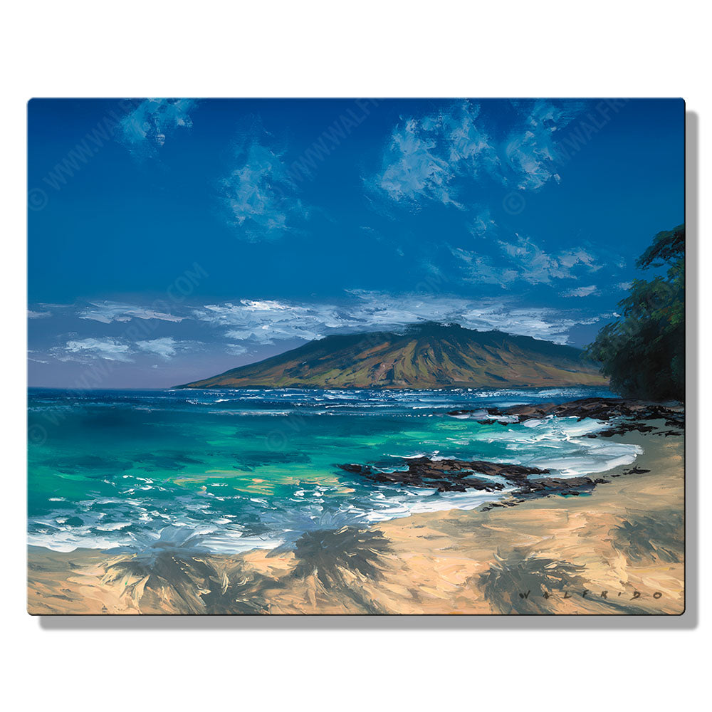 Wailea Blue, Open Edition Metal Print by Tropical Hawaii Artist Walfrido