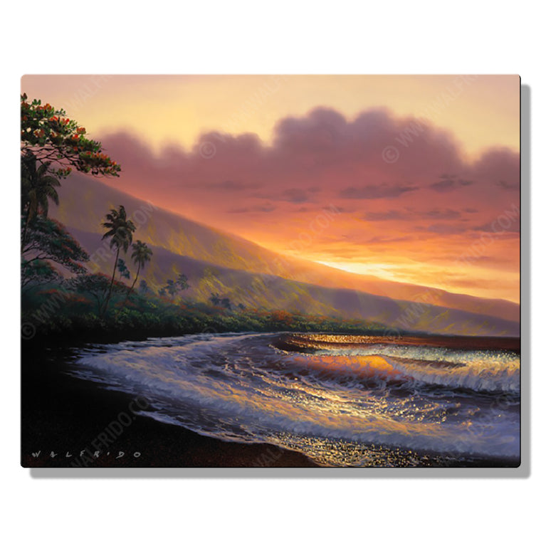 Warmth of the Sun, Open Edition Metal Print by Tropical Hawaii Artist Walfrido