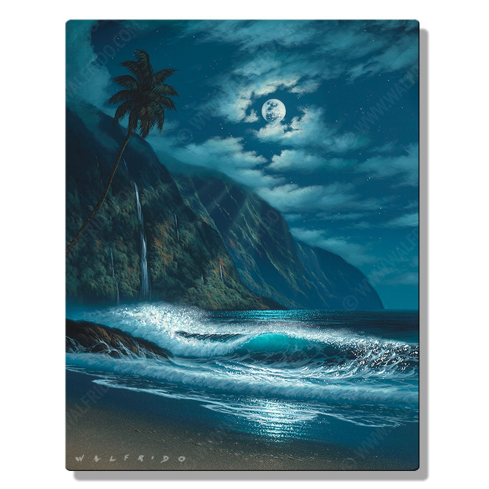 Worthy of Reflection, Open Edition Metal Print by Tropical Hawaii Artist Walfrido