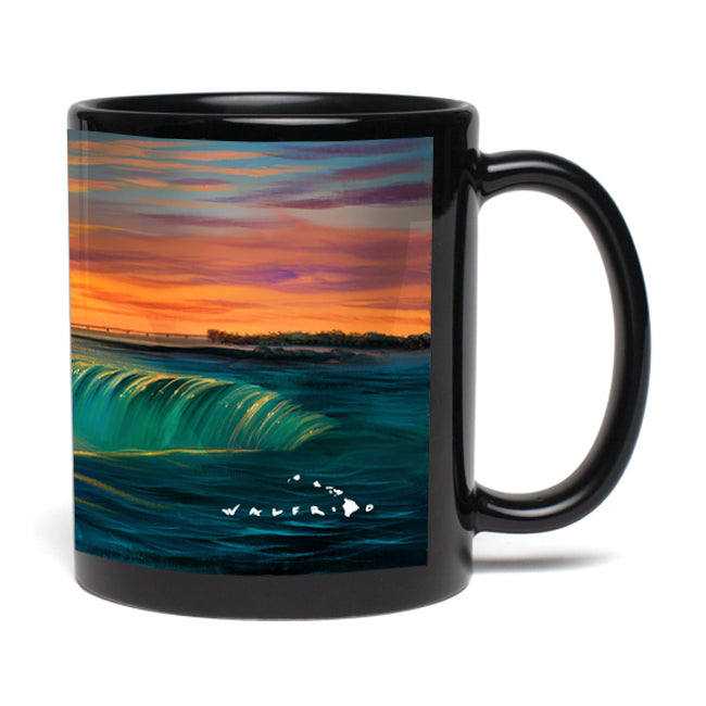 """Falling For You"" Black Mug"