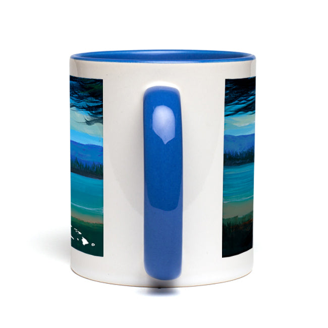 """Lake Therapy"" Blue Accent Mug"