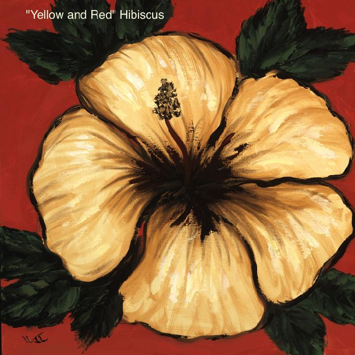 Yellow and Red Hibiscus