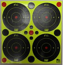 "3"" Green Splatter Shot Bullseye"