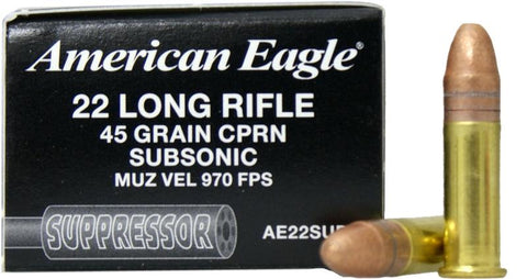 American Eagle Suppressor Rifle Ammo 22 LR, CPS